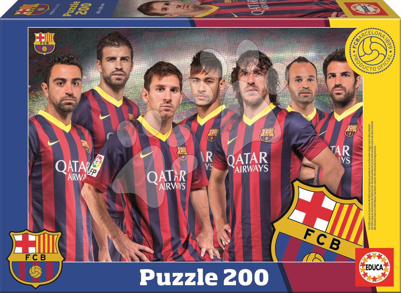 Cardboard puzzle FC Barcelona Educa 200 dílků od 6 let