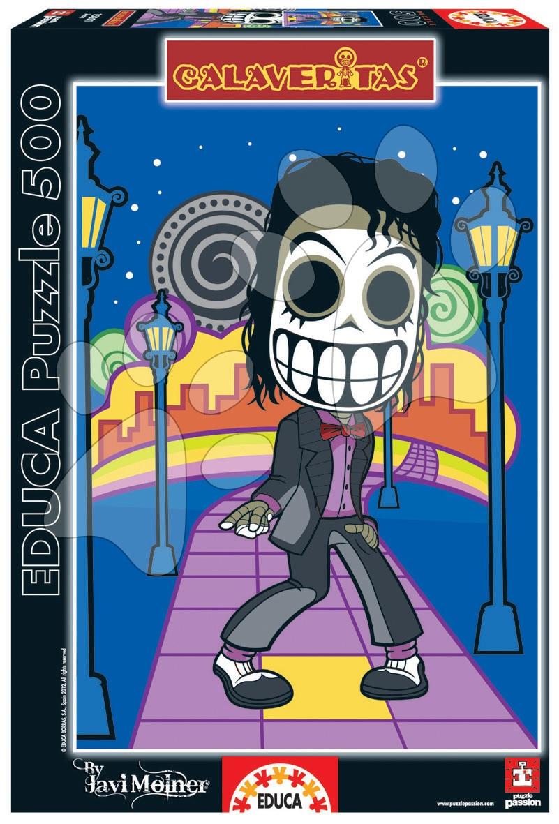 Puzzle 500 dielne - Puzzle Zombie celebrity, Calaveritas Jean Educa 500 dielov od 11 rokov