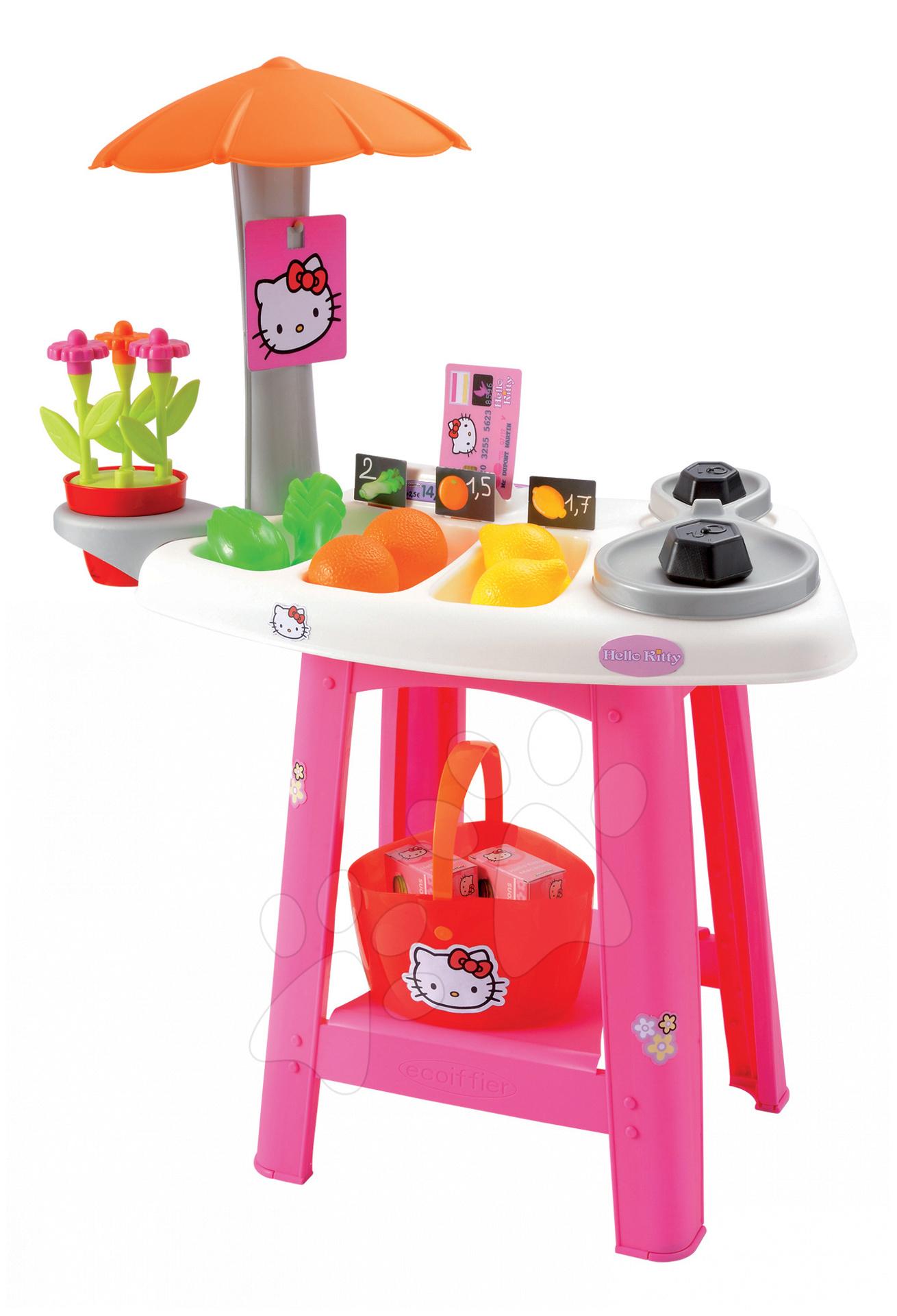 Obchody pro děti - Obchod Hello Kitty Écoiffier s 25 doplňky od 18 měsíců