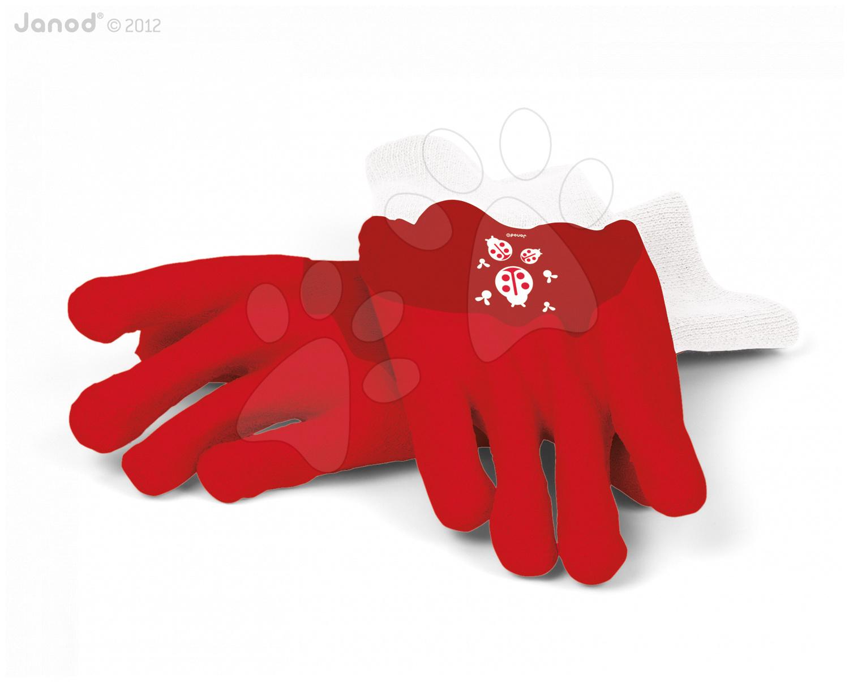 Zahradnické rukavice Cocco Janod červené