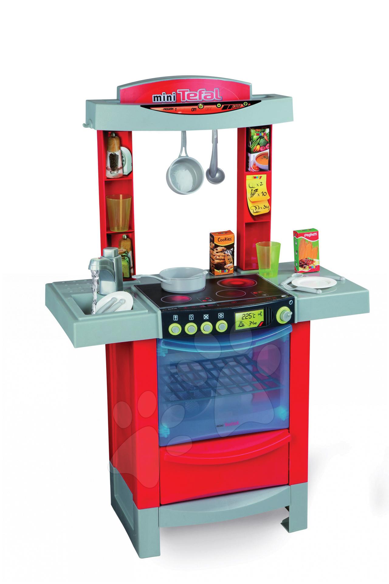 Kuchyňka COOK'TRONIC Smoby s vodou, zvuková a světelná a 16 doplňků