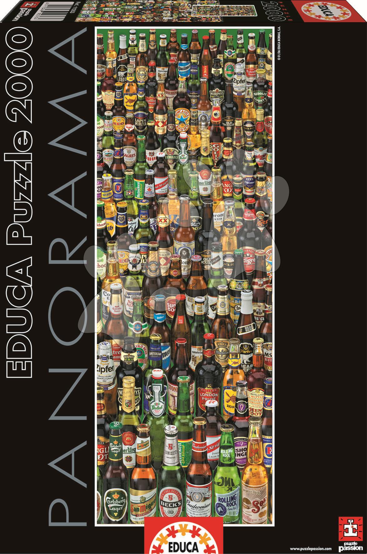 Puzzle panorama Beers Educa 2000 dielov