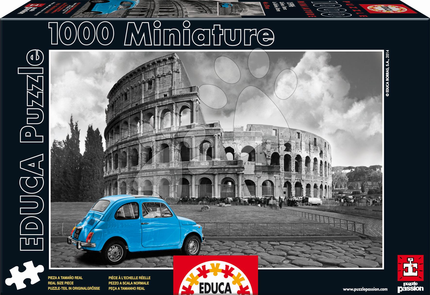 Puzzle miniatúrne - Puzzle Miniature Series - Coloseum Rome Educa 1000 dielov od 12 rokov
