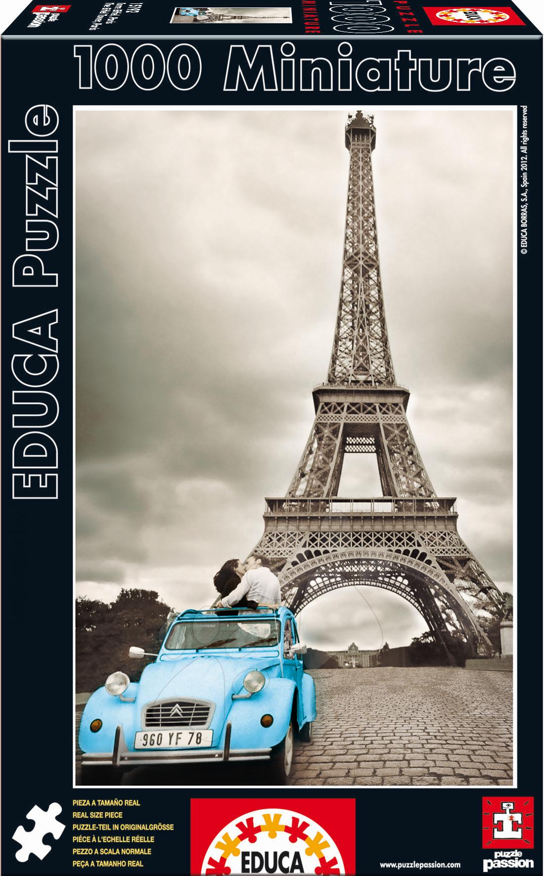 Puzzle Eiffel Tower Educa 1000 dielov od 12 rokov