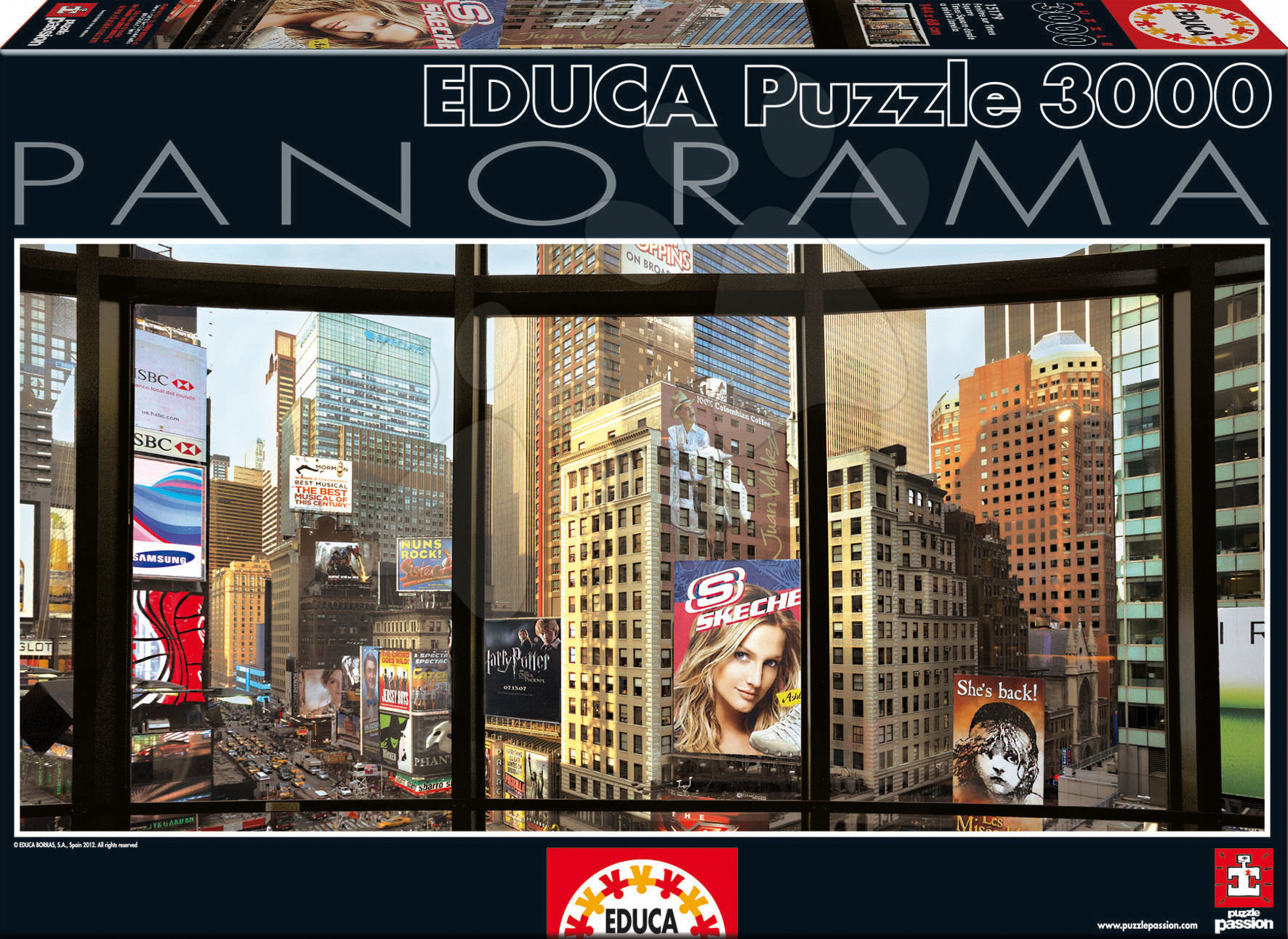 Puzzle Panorama Times Square from My Window Educa 3000 dílků