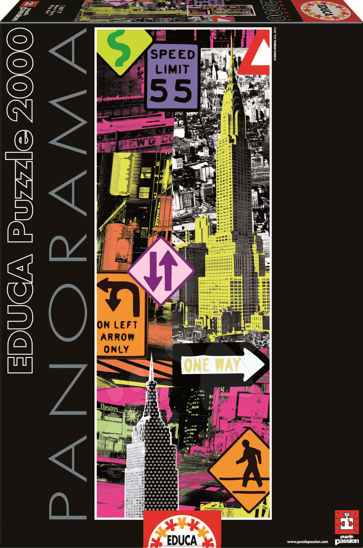 Panorama puzzle - Puzzle Panorama New York Pop Art Educa 2000 dielov
