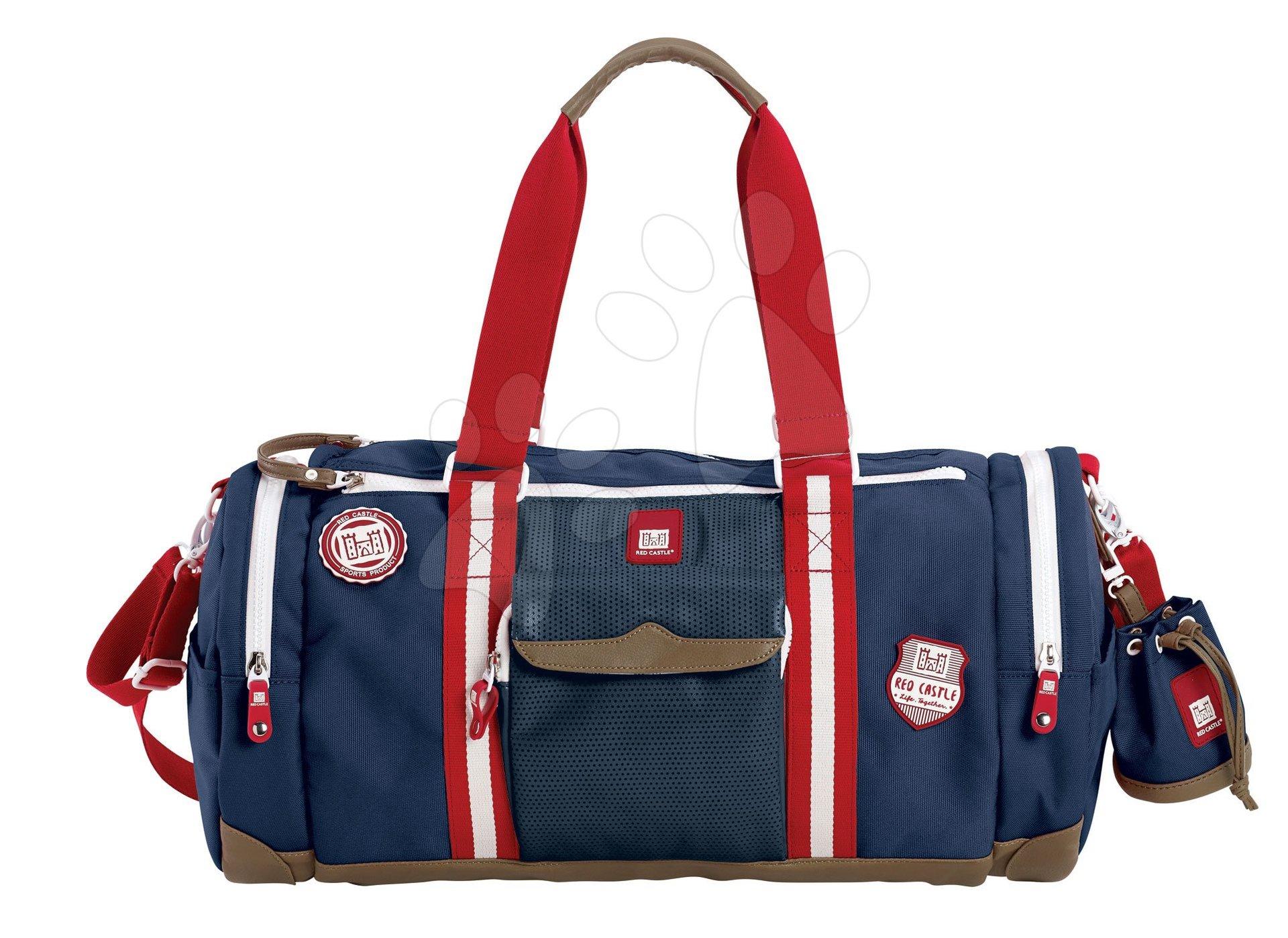 Prebaľovacie tašky ku kočíkom - Prebaľovacia cestovná taška ku kočíku Bowling Red castle modrá