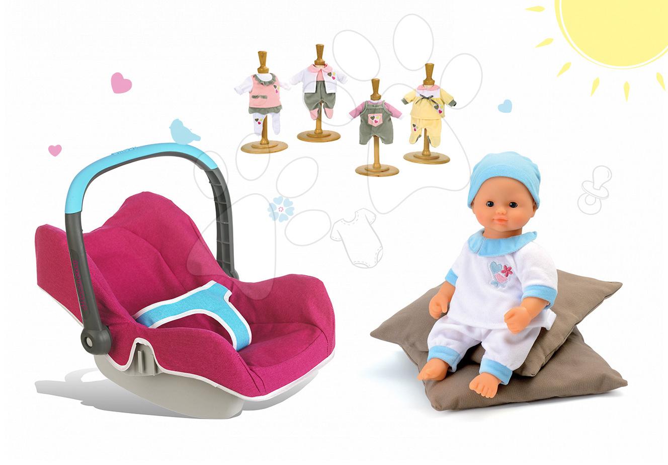 Set autosedačka pre bábiku Maxi Cosi & Quinny Smoby bábika Baby Nurse 32 cm a 3 šiat