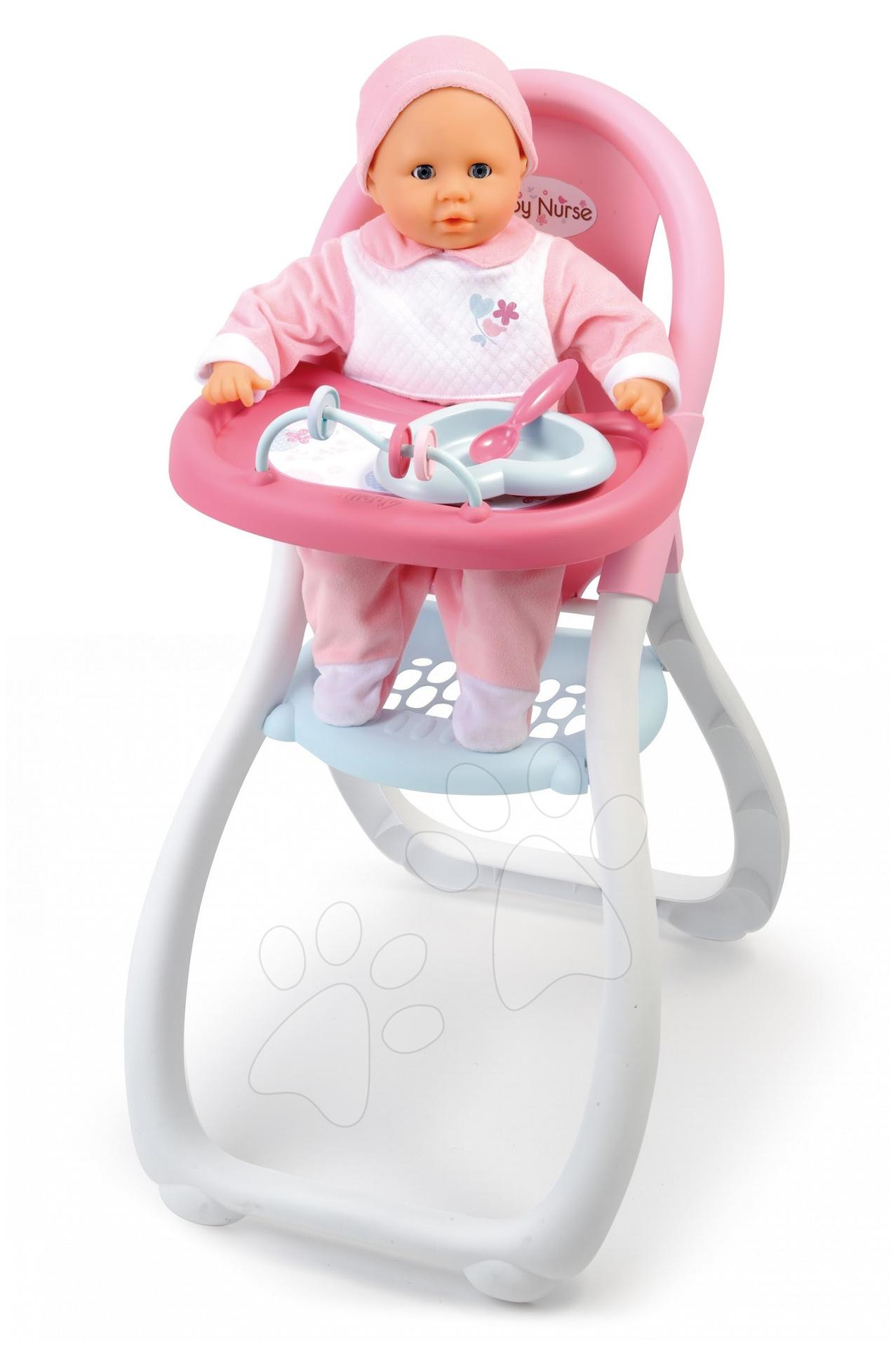 Staré položky - Jídelní židle Baby Nurse Smoby pro 42 cm panenku od 18 měsíců