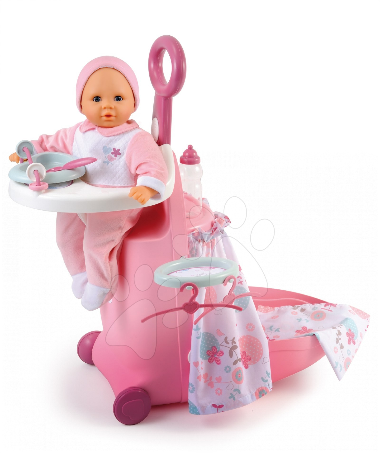 Staré položky - Pečovatelský kufřík pro panenku Baby Nurse Smoby se 6 doplňky od 18 měsíců