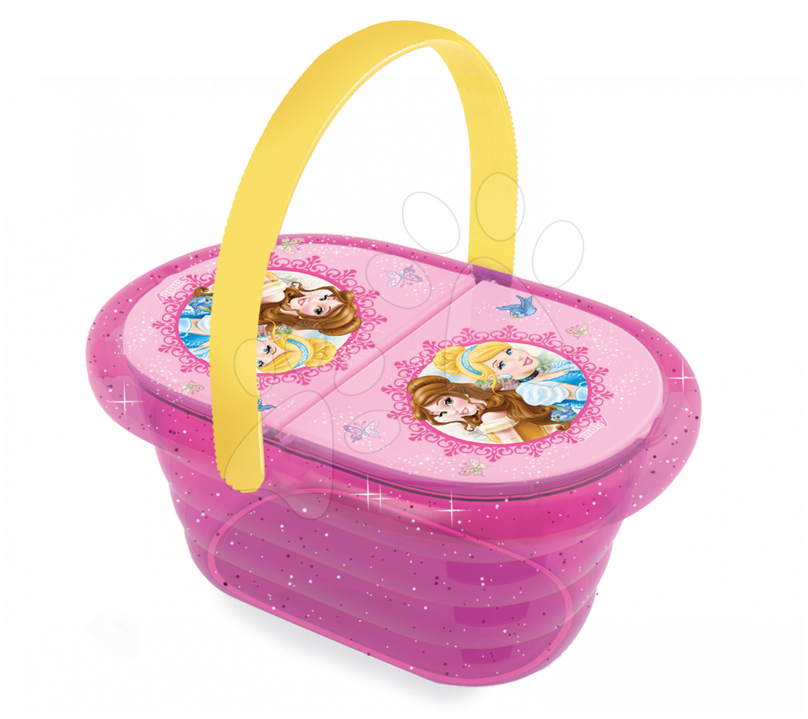 Riadíky a doplnky kuchynky - Piknikový košík Princezné Smoby s 24 doplnkami