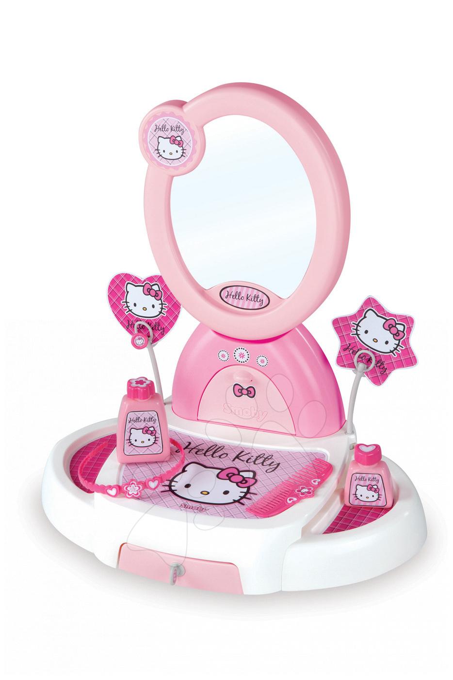 Kosmetický stolek Hello Kitty Smoby s otevírací zásuvkou a 5 doplňky světle růžový