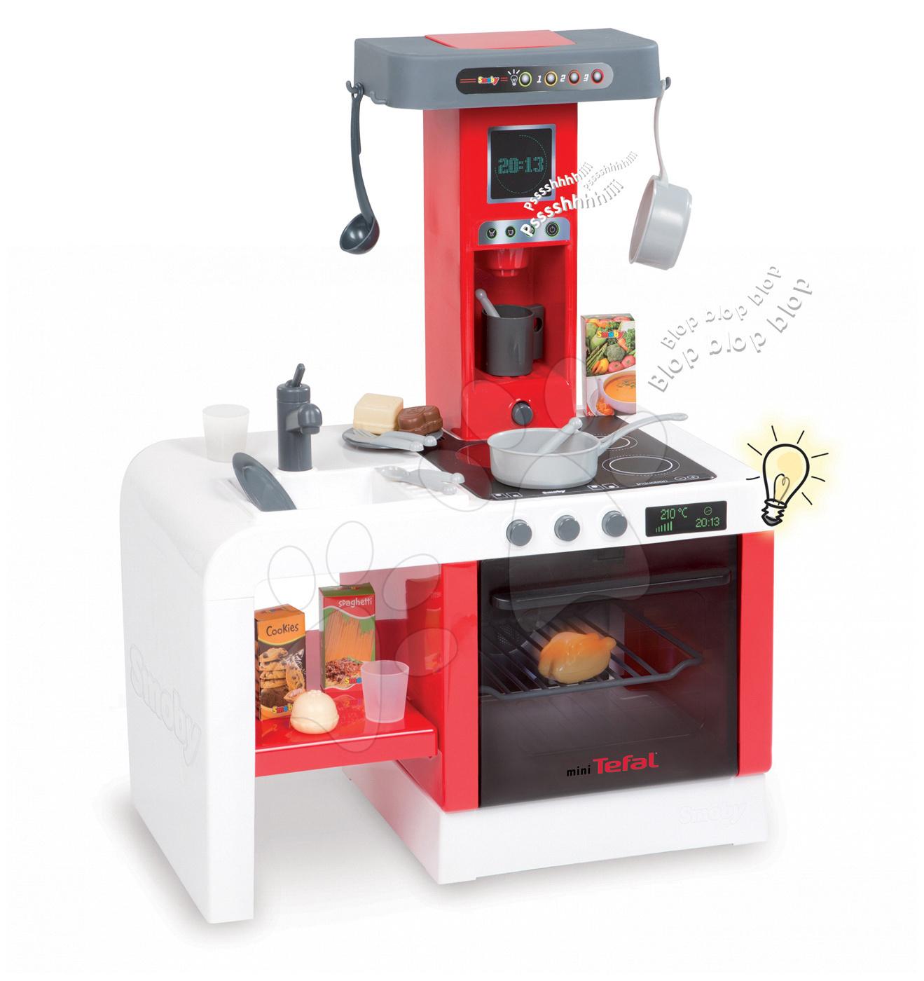 Kuchyňka Cheftronic Tefal Smoby elektronická se zvuky a 21 doplňky