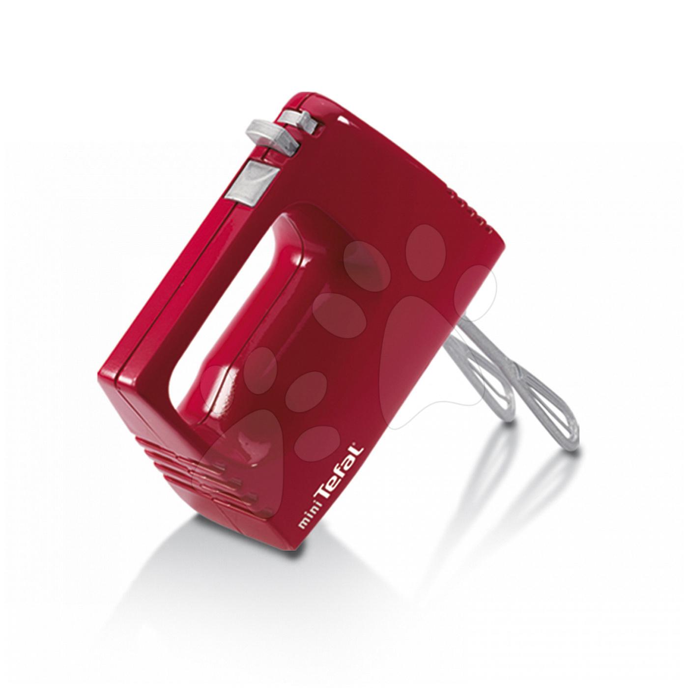 Ručný mixér Mini Tefal Smoby s metličkami červený