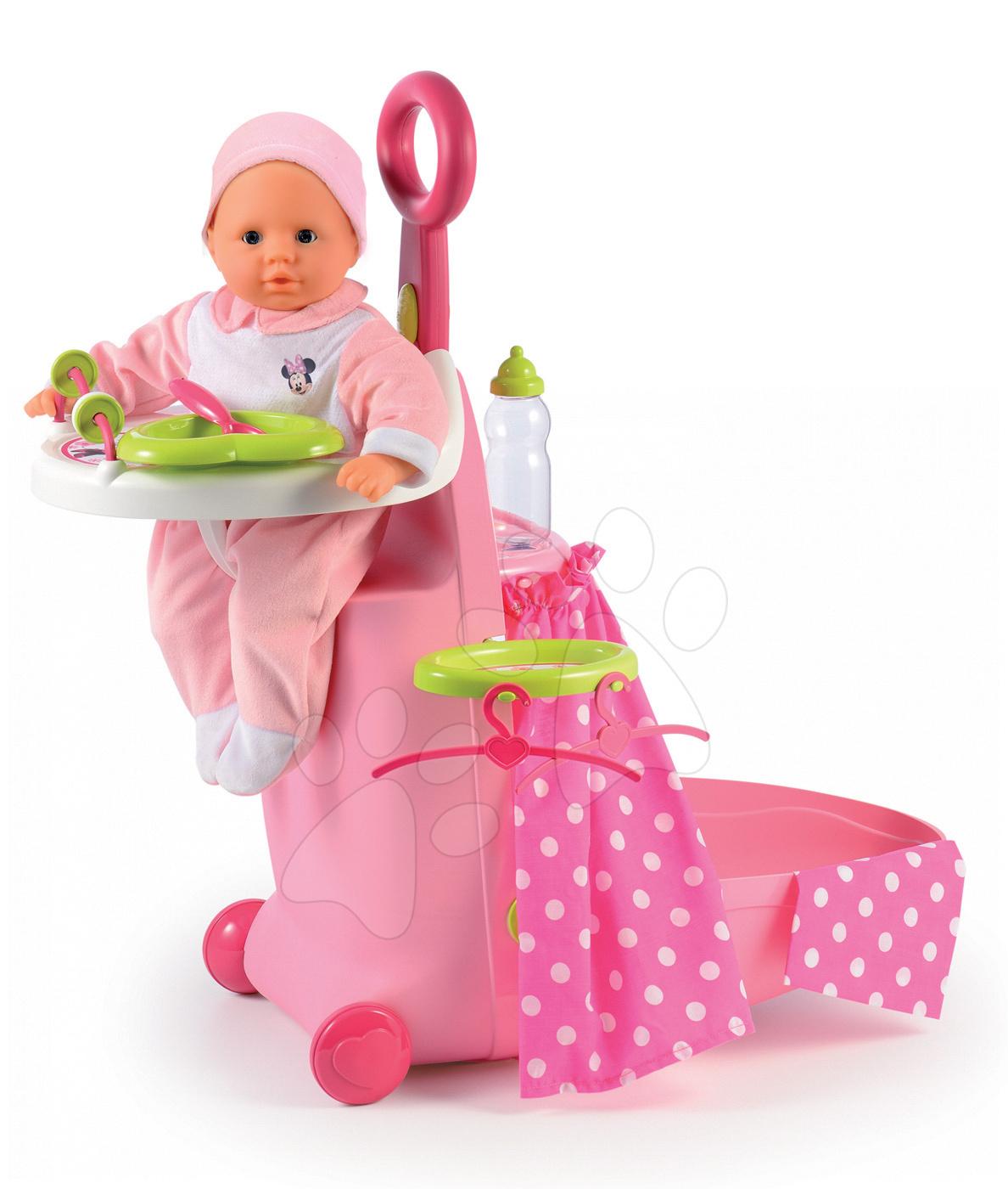 Pečovatelský kufřík Minnie Nursery Smoby pro panenku se 6 doplňky od 18 měsíců
