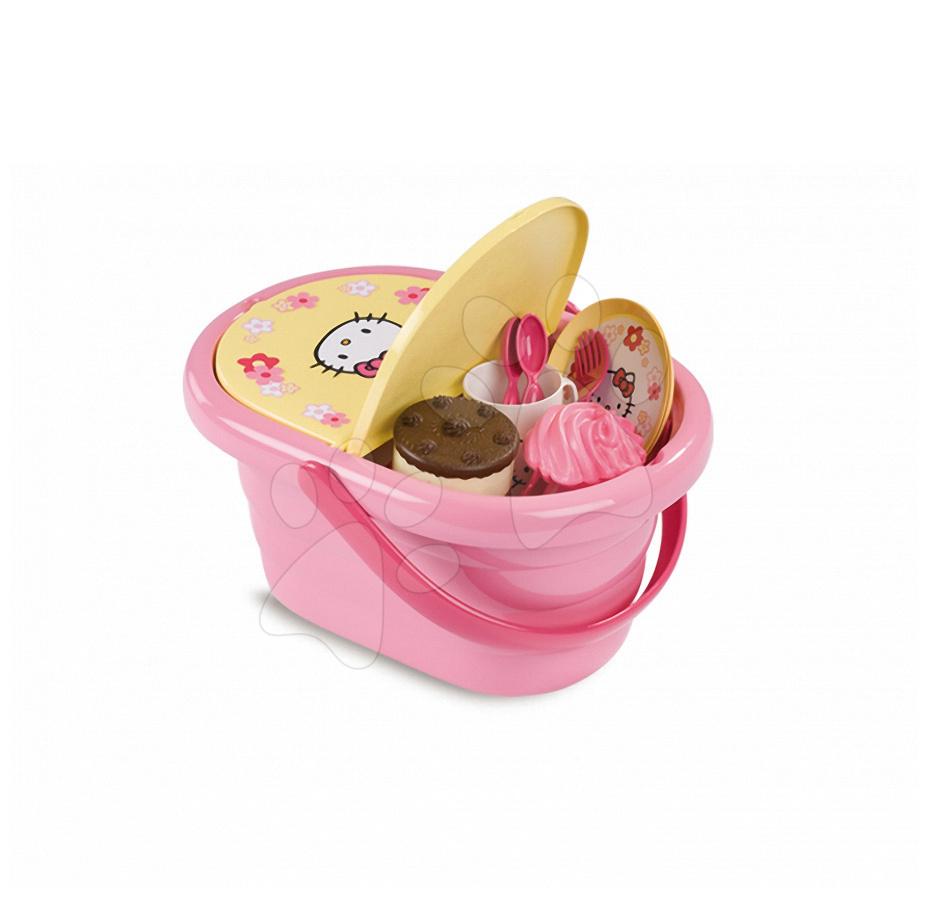 Piknikový košík Hello Kitty Smoby s 24 doplňky