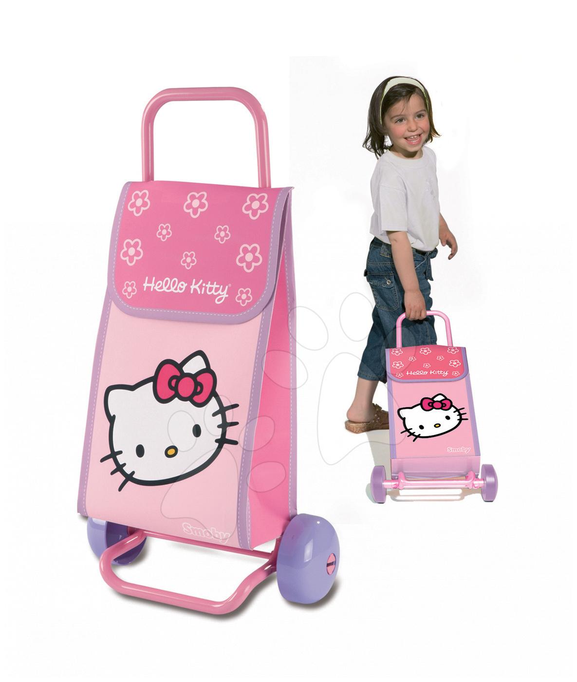 Nakupovalna torba Hello Kitty Smoby na kolesih