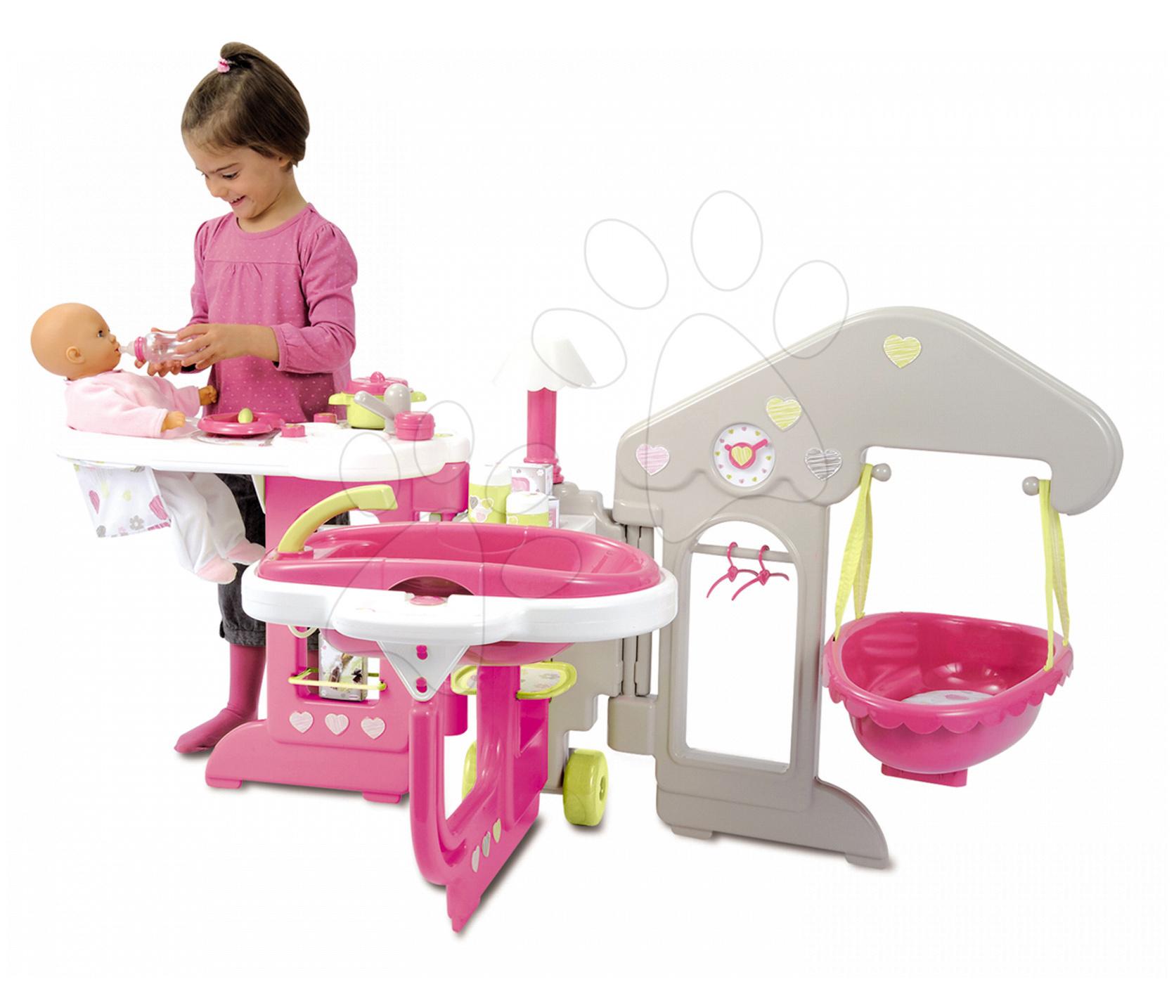 Domčeky pre bábiky - Opatrovateľské centrum Baby Nurse Smoby pre bábiku s 13 doplnkami