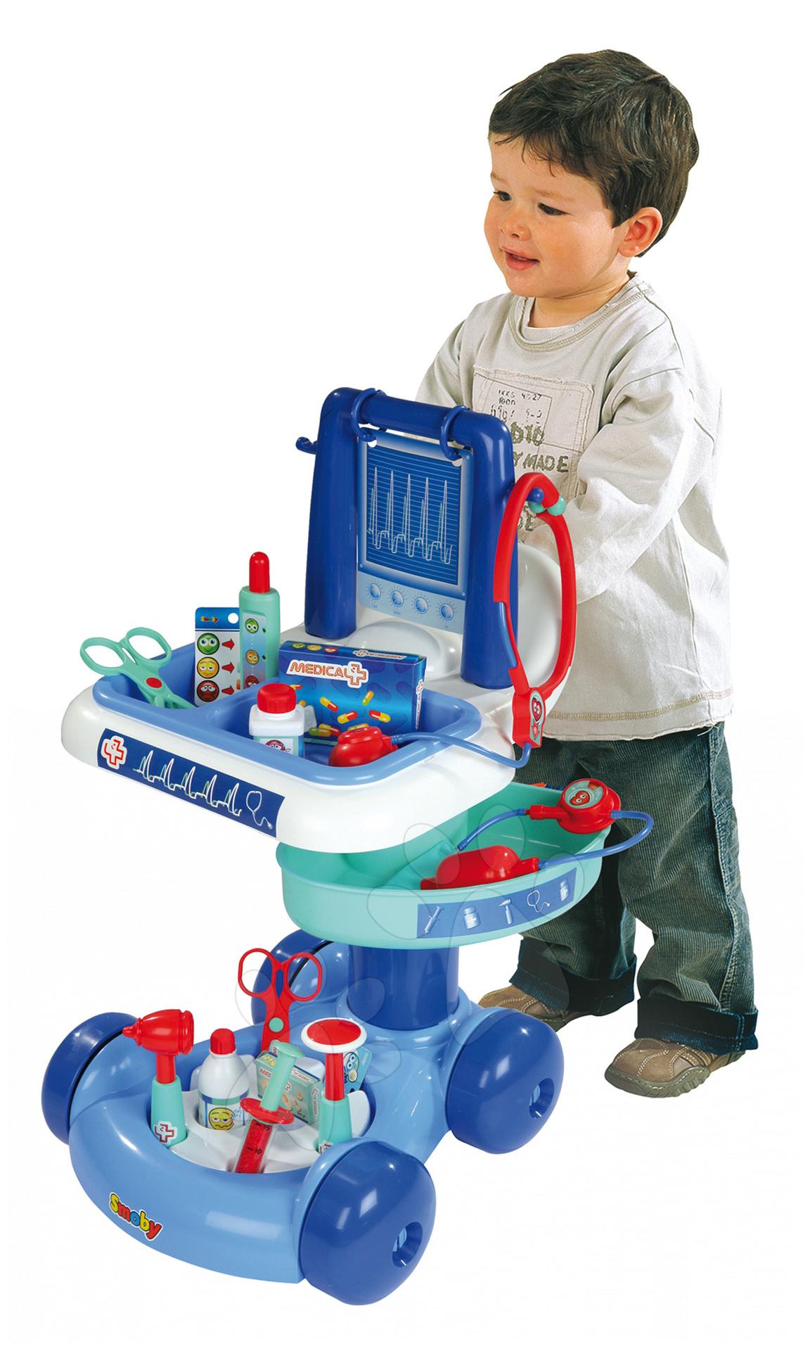Medical elektronický lékařský vozík Smoby s 15 doplňky