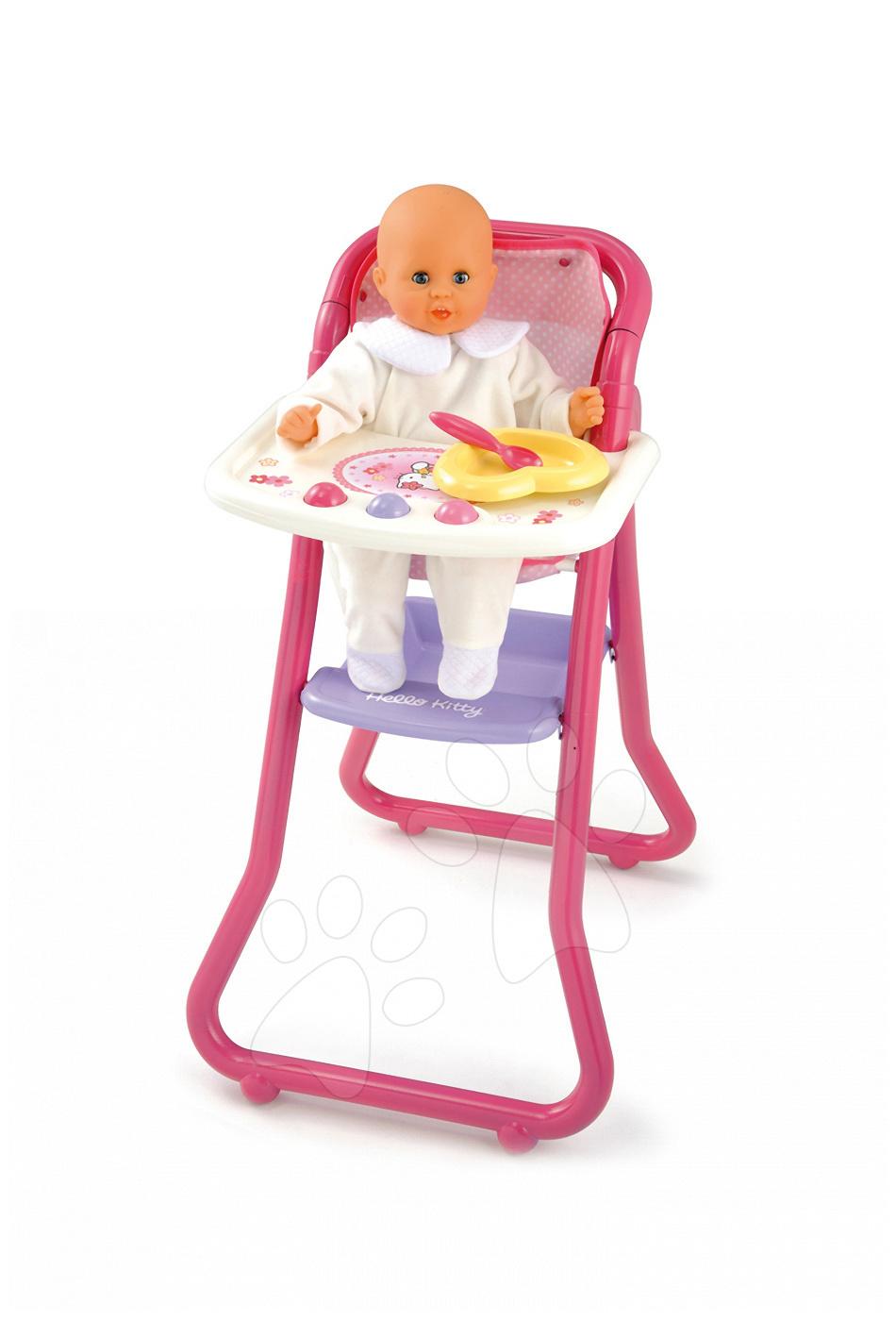 Židličky pro panenky - Jídelní židle pro 42 cm panenku Hello Kitty Smoby #VALUE! od 18 měsíců