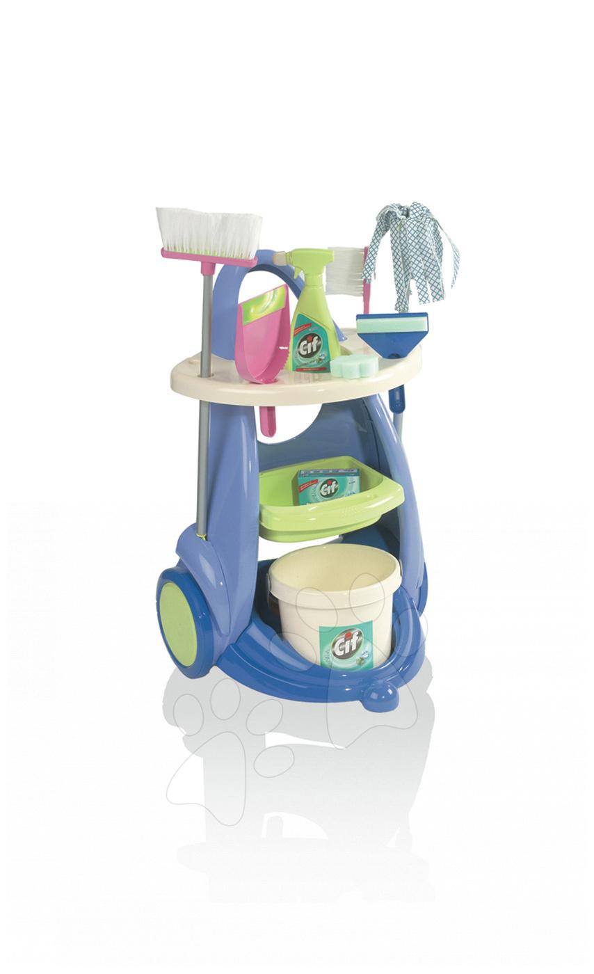Hry na domácnost - Úklidový vozík Rowenta Cif Clean Service Smoby modrý