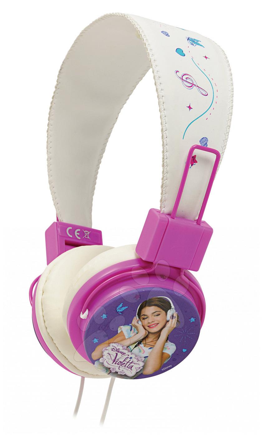Hudební sluchátka Violetta Zlatá edice Smoby bílo-růžové