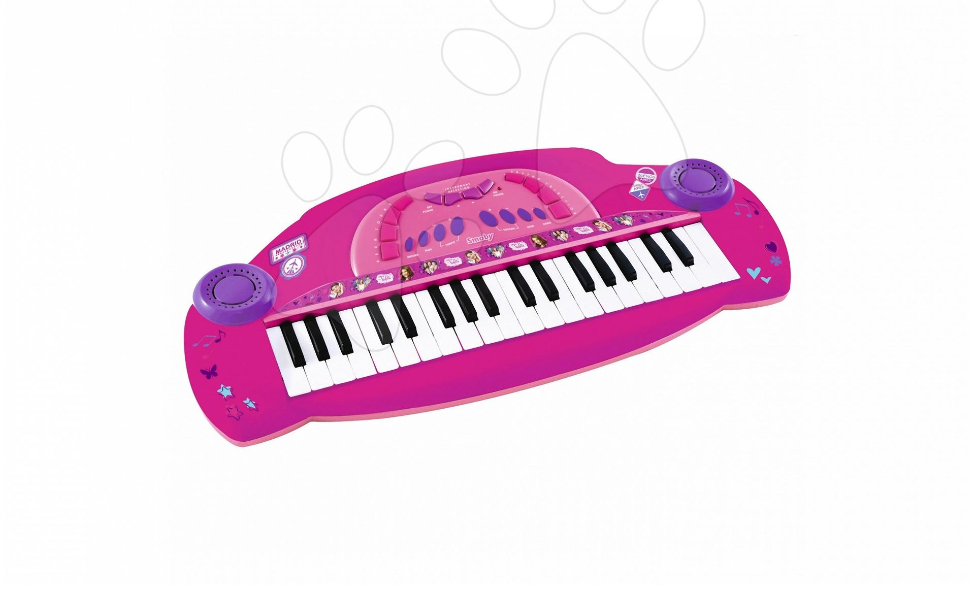 Detské hudobné nástroje - Piano Violetta Smoby elektronické ružové