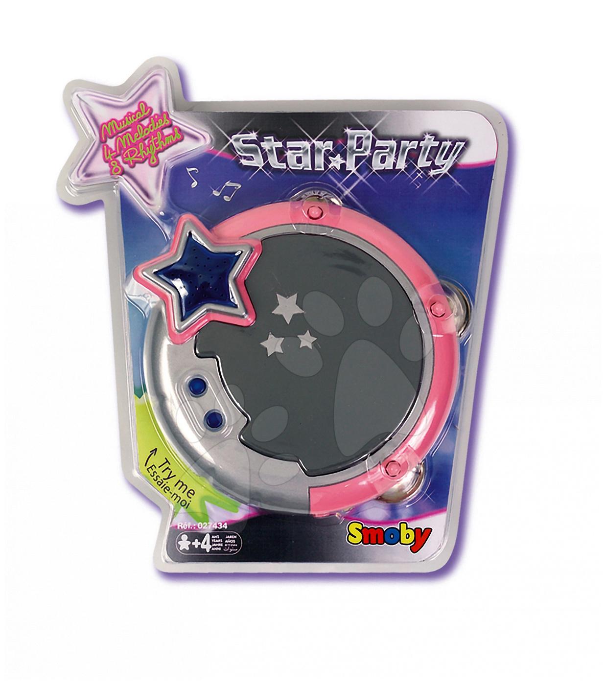 Tamburína Star Párty Smoby elektronická s melódiami od 4 rokov