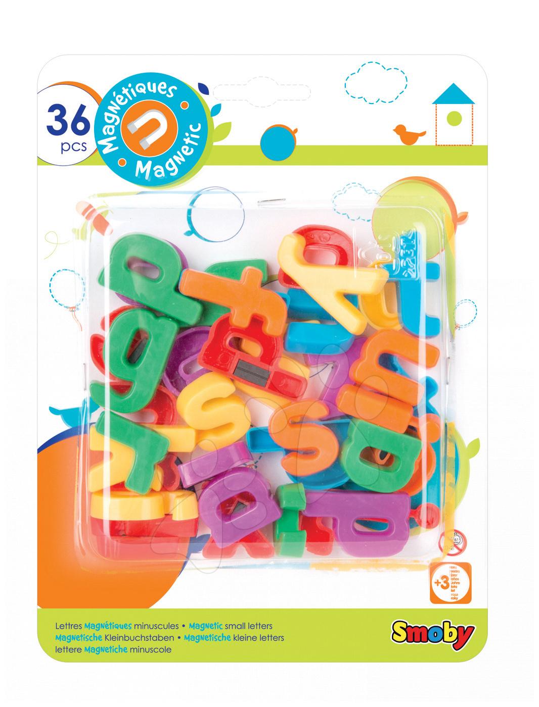 Magnetky pre deti - Magnetky Smoby malé písmená 36 kusov