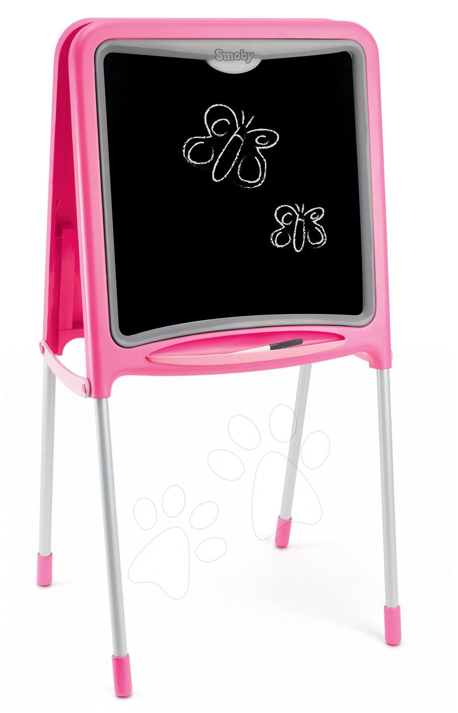 Magnetická tabuľa Smoby obojstranná s kovovou konštrukciou a 59 doplnkami  ružová. Pre absolútny zážitok prosím použite prehliadač s javascriptom 12f77e17053