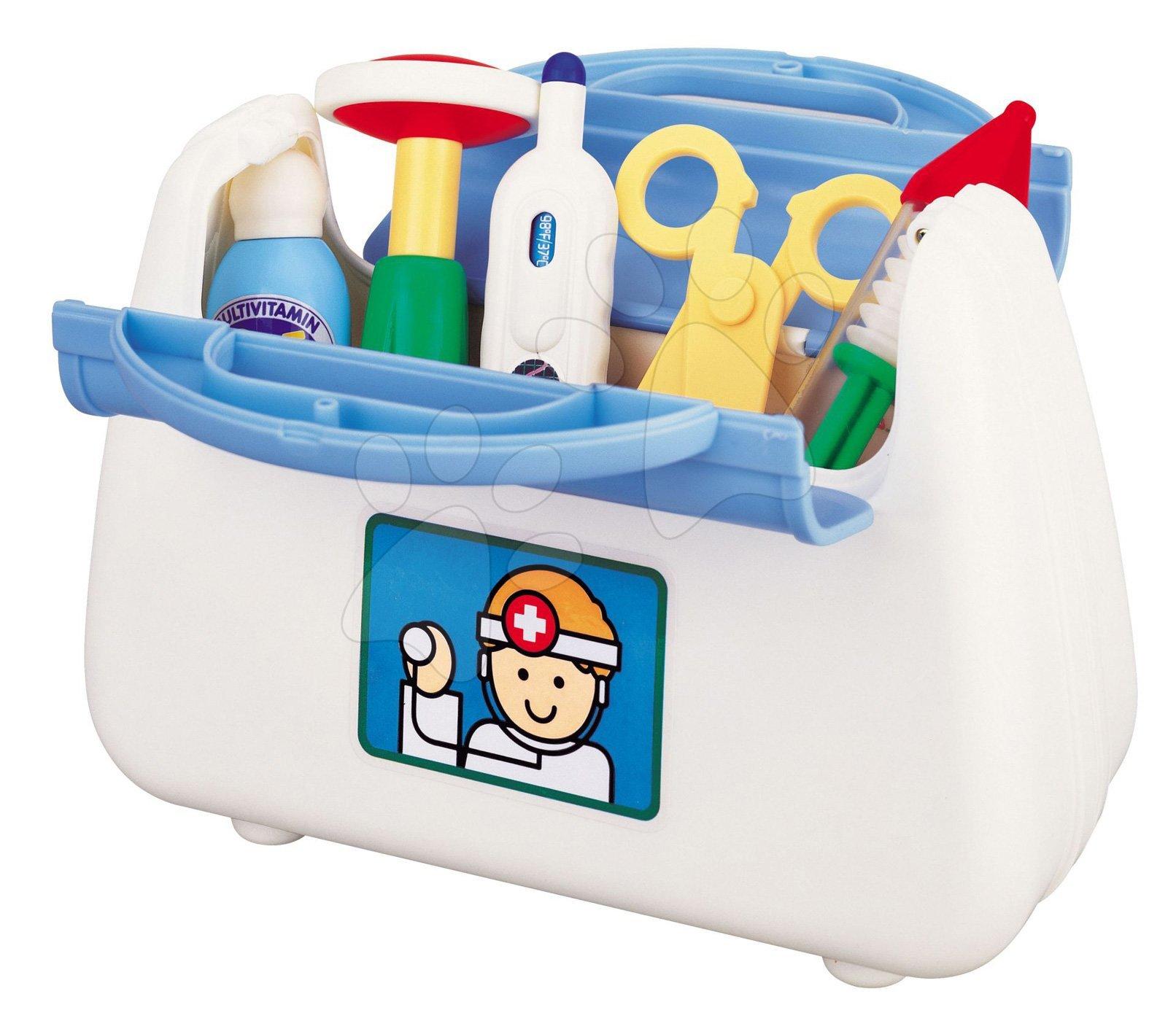 Lekárské vozíky pre deti - Set pre lekára Activity Little Doktor Kit Kiddieland