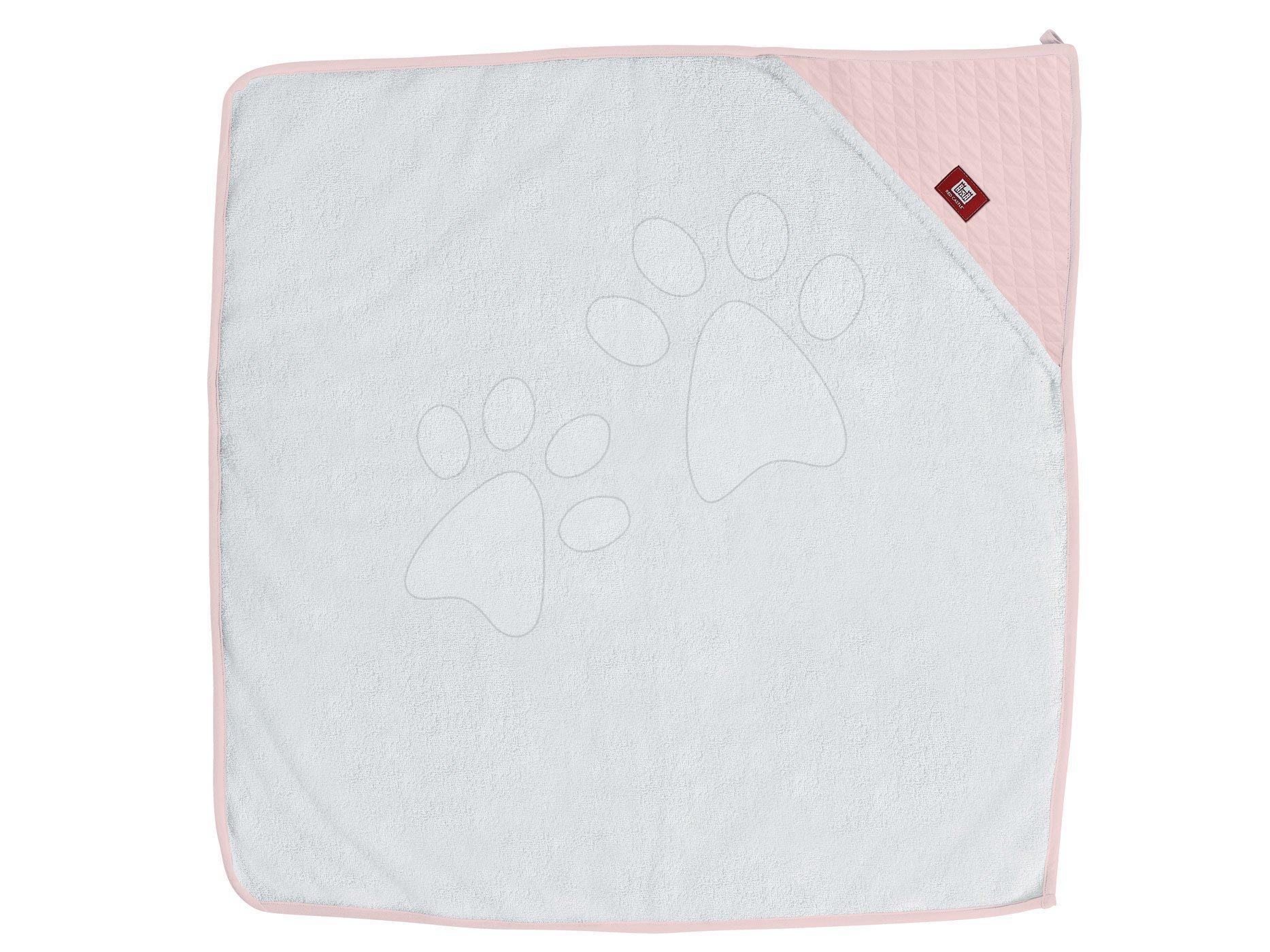Kojenecká osuška s kapucí Red Castle Fleur de Coton® 100x100 cm růžová od 0 měsíců