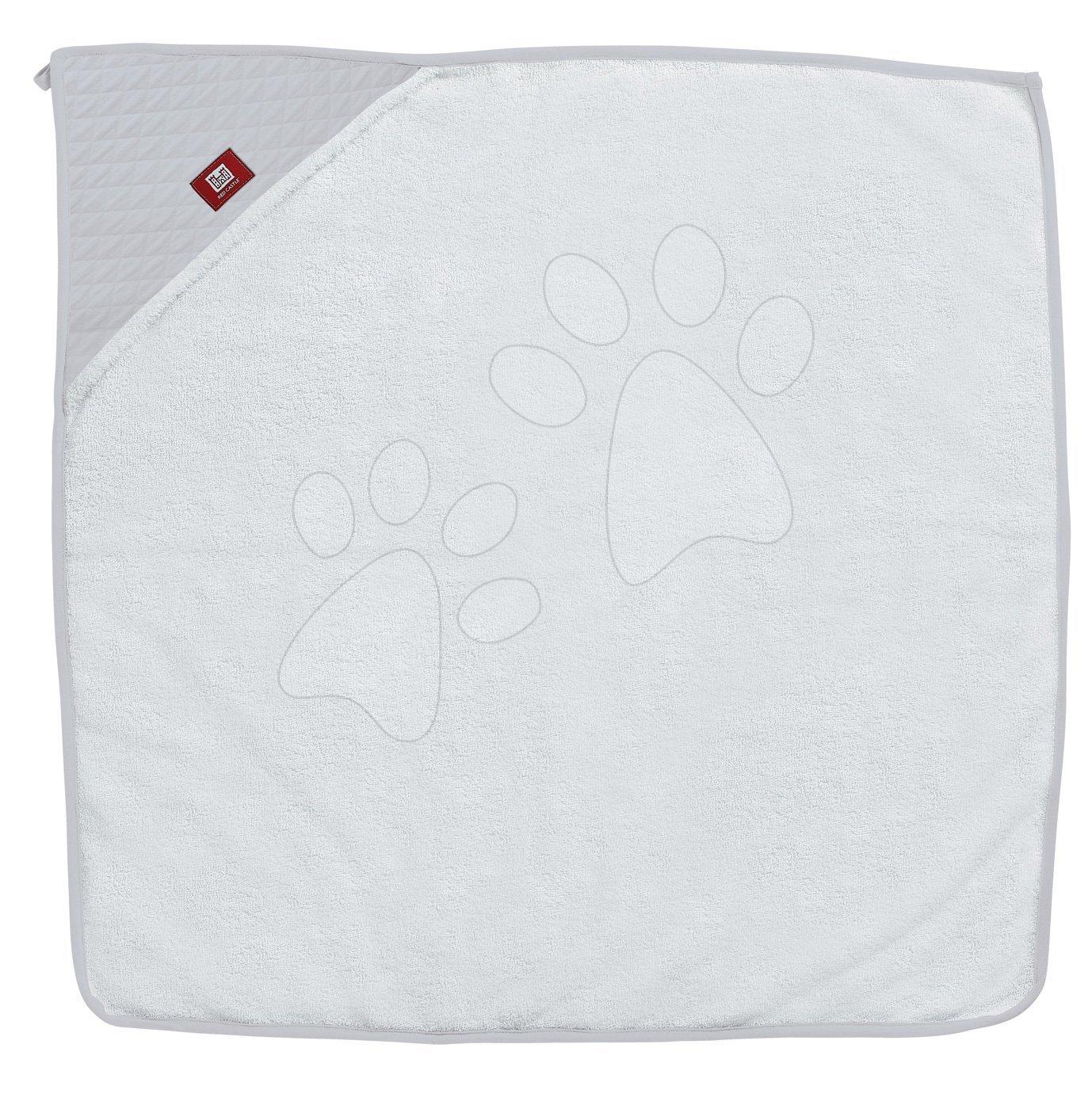 Kojenecká osuška s kapucí Dreamy Cloud Fleur de Coton® Red Castle 100x100 cm šedá od 0 měsíců