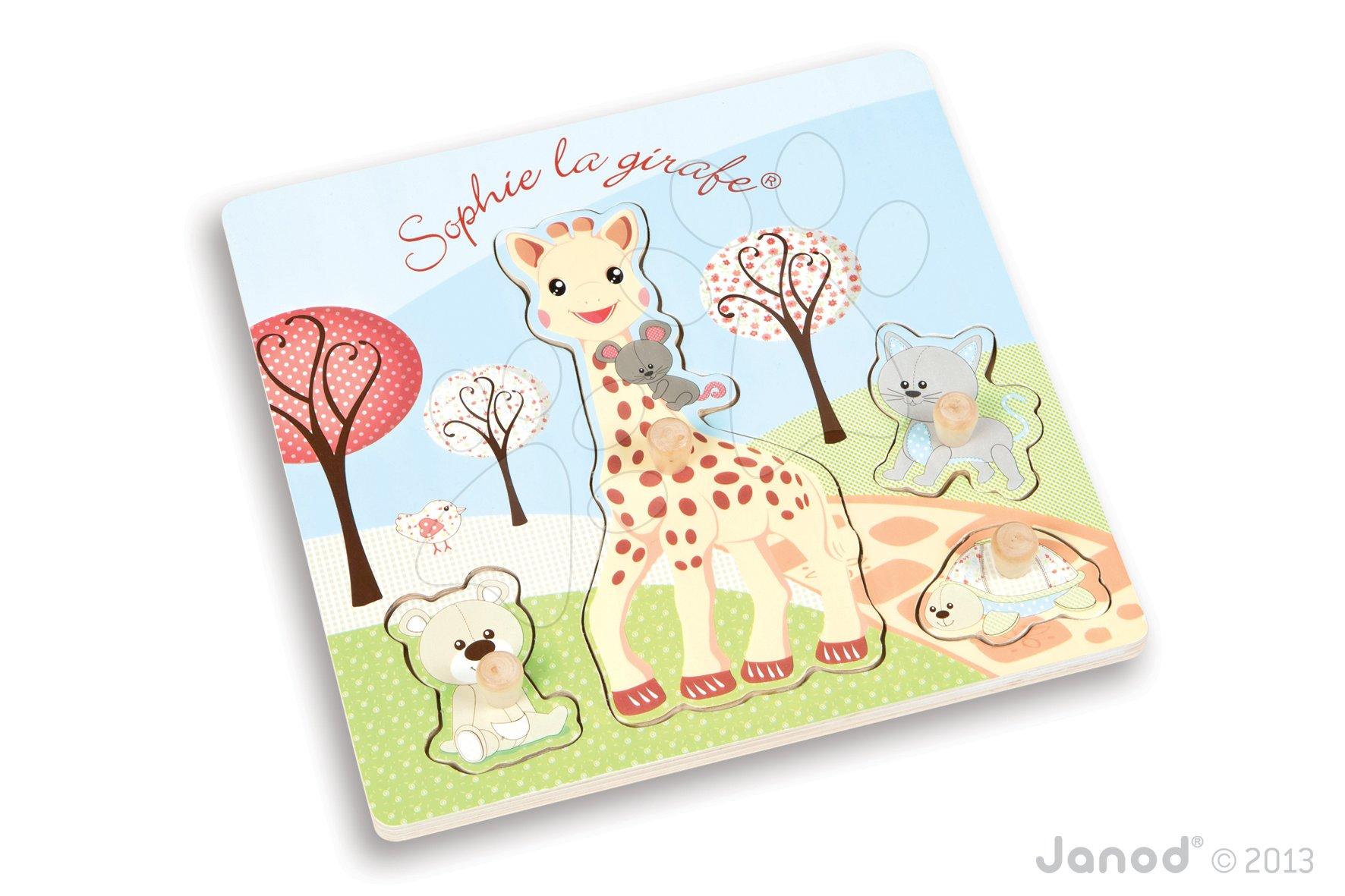 Puzzle pre najmenších - Puzzle vkladačka Sophie The Giraffe Janod od 12 mes