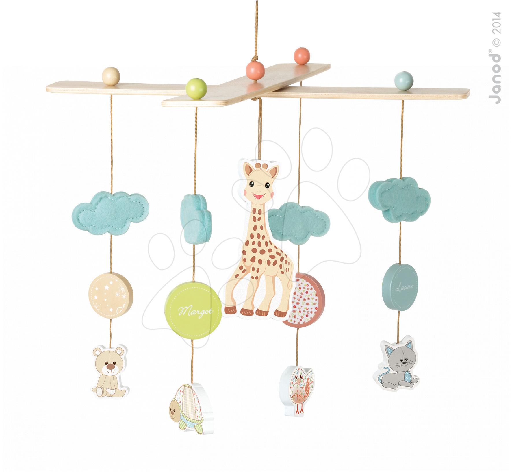 Dřevěný kolotoč Sophie la Girafa Janod závěsný pro nejmenší