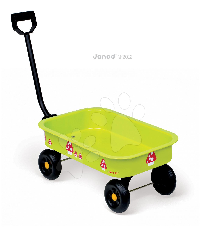 Plechový vozík Natur' Janod od 24 měsíců