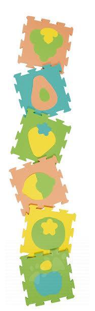 Podlahové puzzle pro miminka - Pěnové puzzle ovoce Lee Chyun podložka pro nejmenší 6 dílů