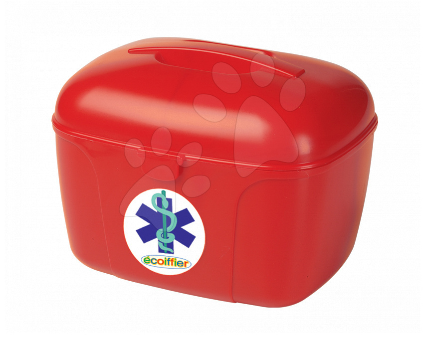 Cufăr medical Écoiffier cu accesorii roşu de la 18 luni