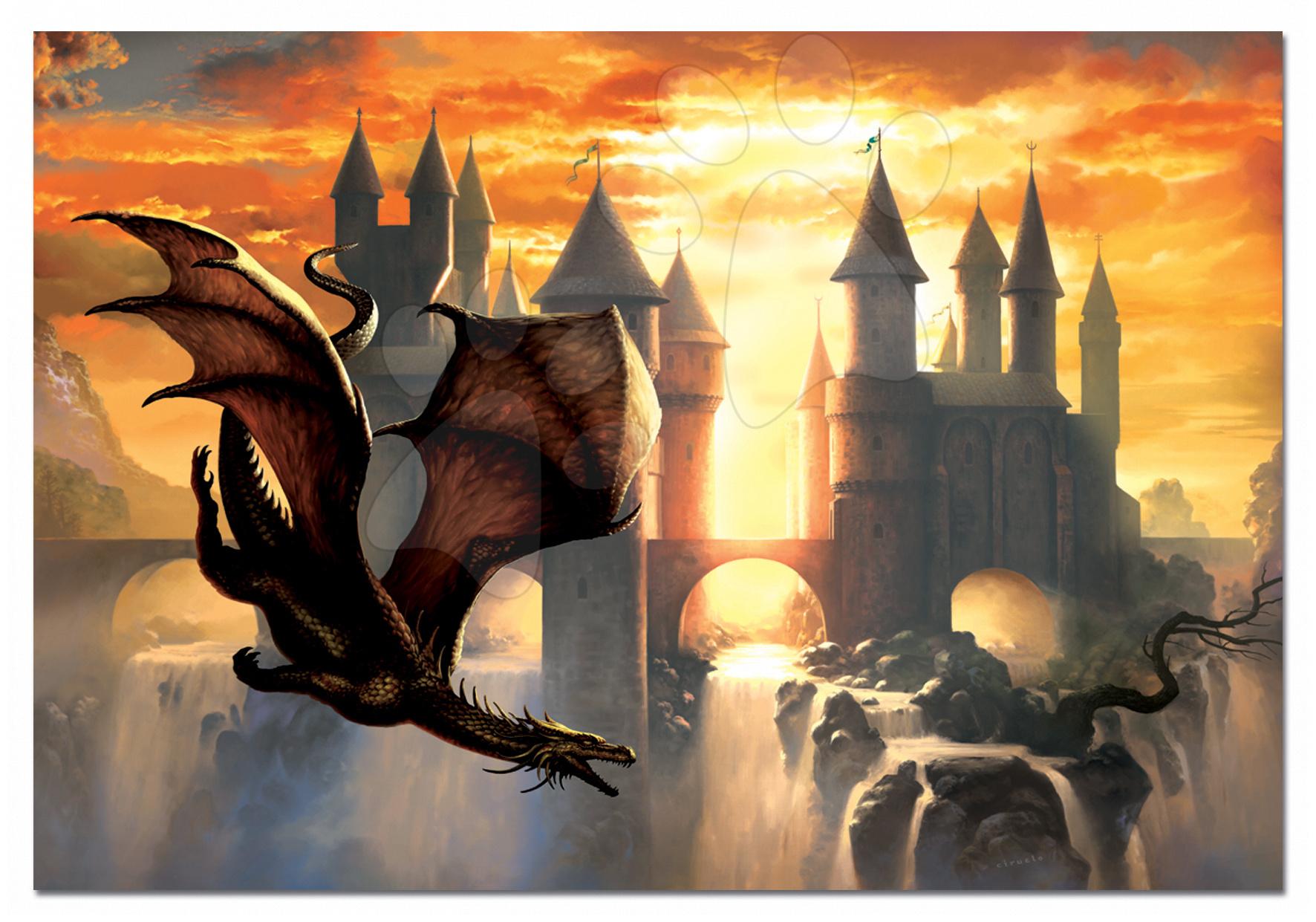 Puzzle cu 1000 de bucăți - Puzzle Sunset Dragon Educa 1000 de piese de la 12 ani