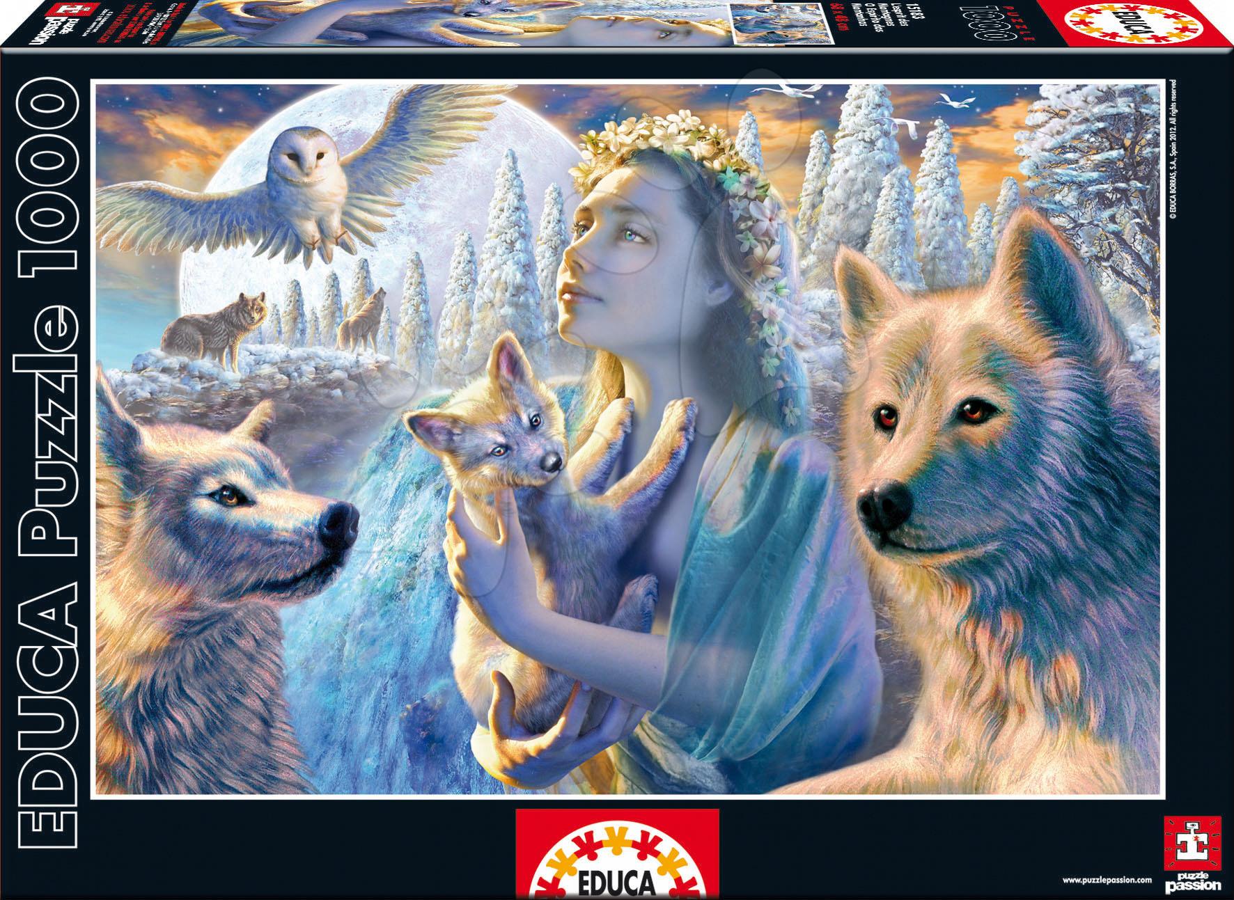 Puzzle 1000 dielne - Puzzle Spirit Of The Mountains Educa 1000 dielov od 12 rokov
