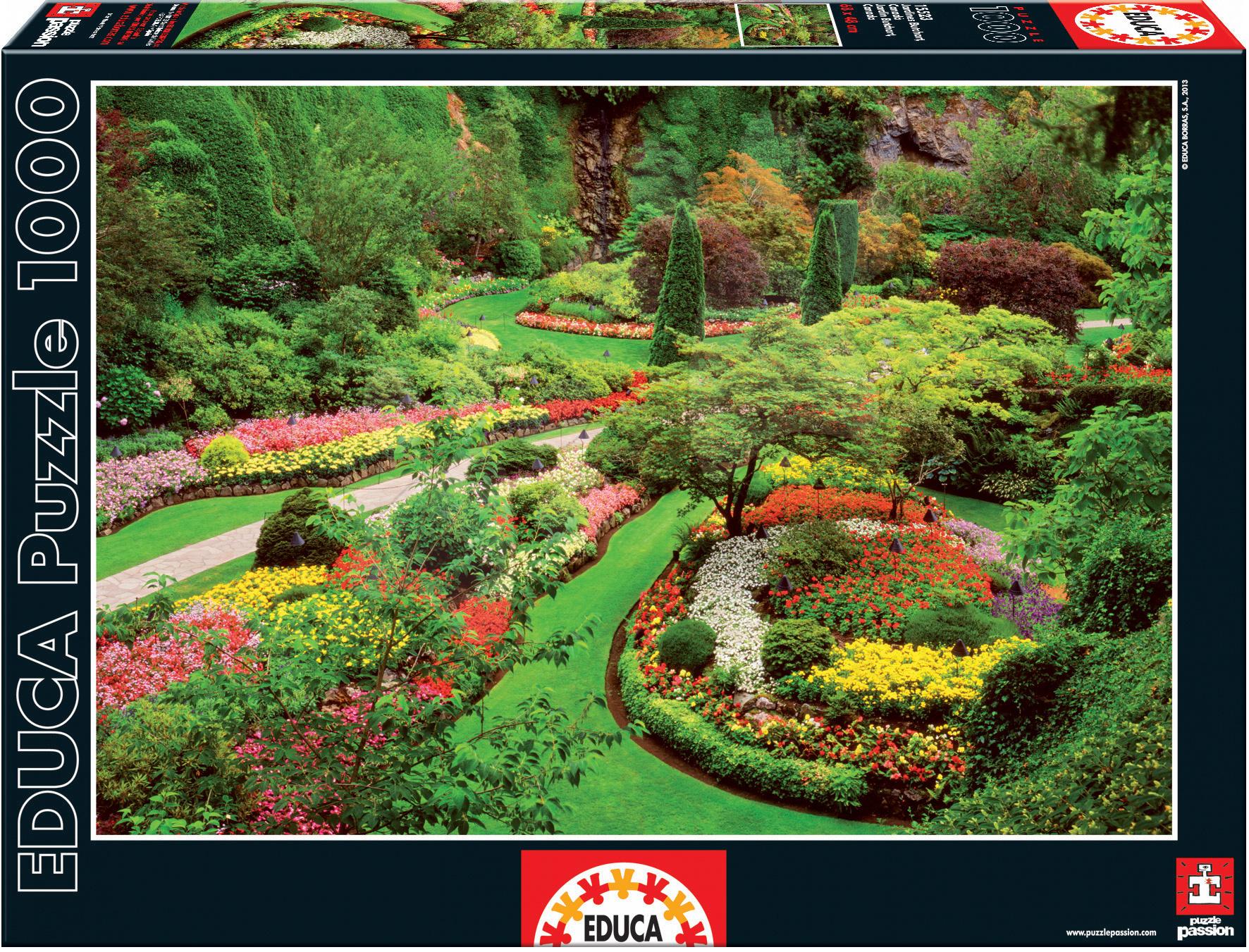 Puzzle 1000 dielne - Puzzle Butchart Gardens Educa 1000 dielov od 12 rokov