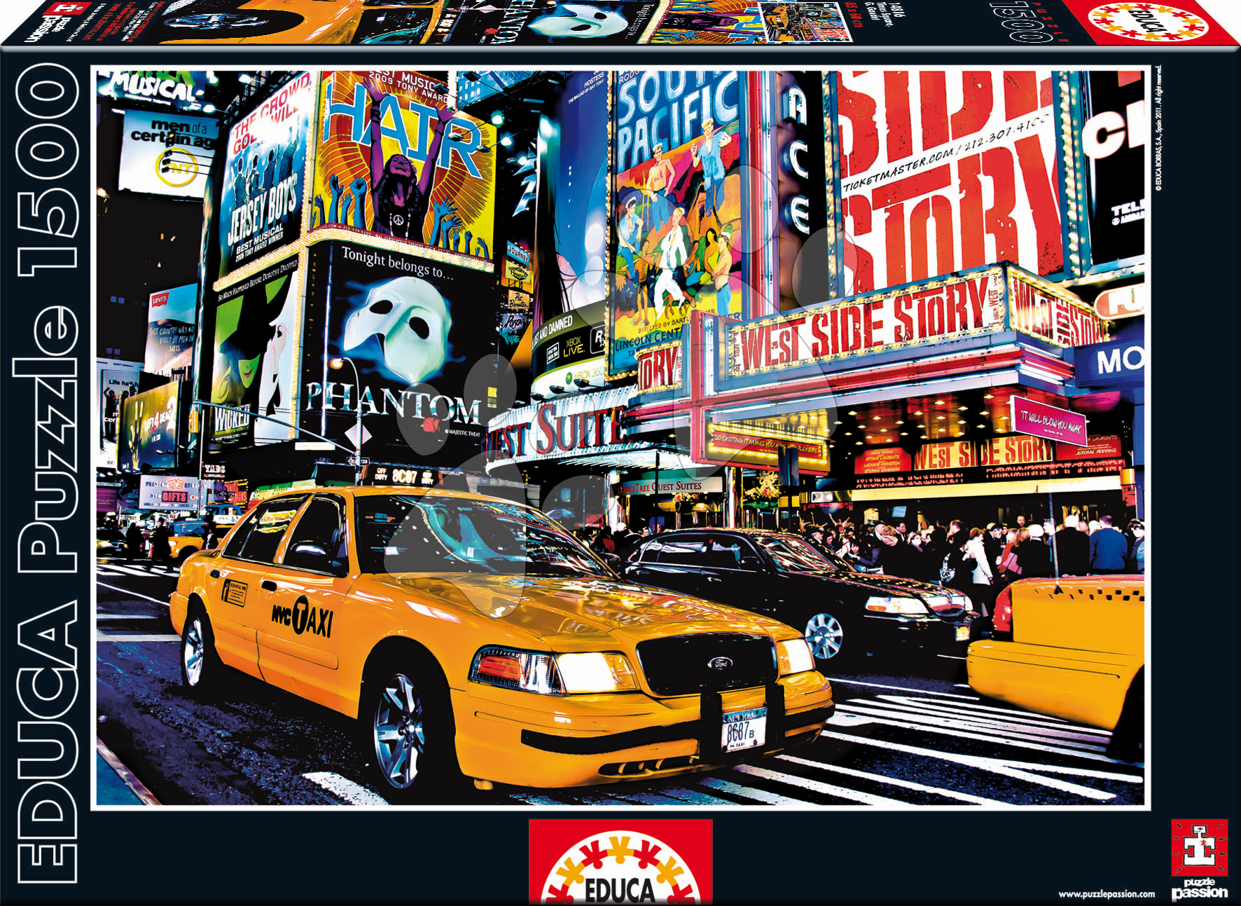 Puzzle Taxi na Times Square Educa 1 500 dílů