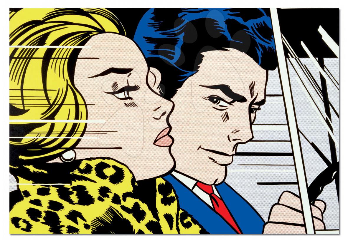 PUZZLE V autě - R. Lichtenstein Educa 1000 dílků a FIX PUZZLE LEPIDLO