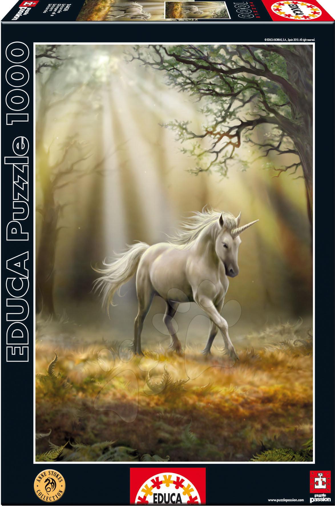 1000 delne puzzle - Puzzle The Last Unicorn Educa 1000 delov od 12 leta
