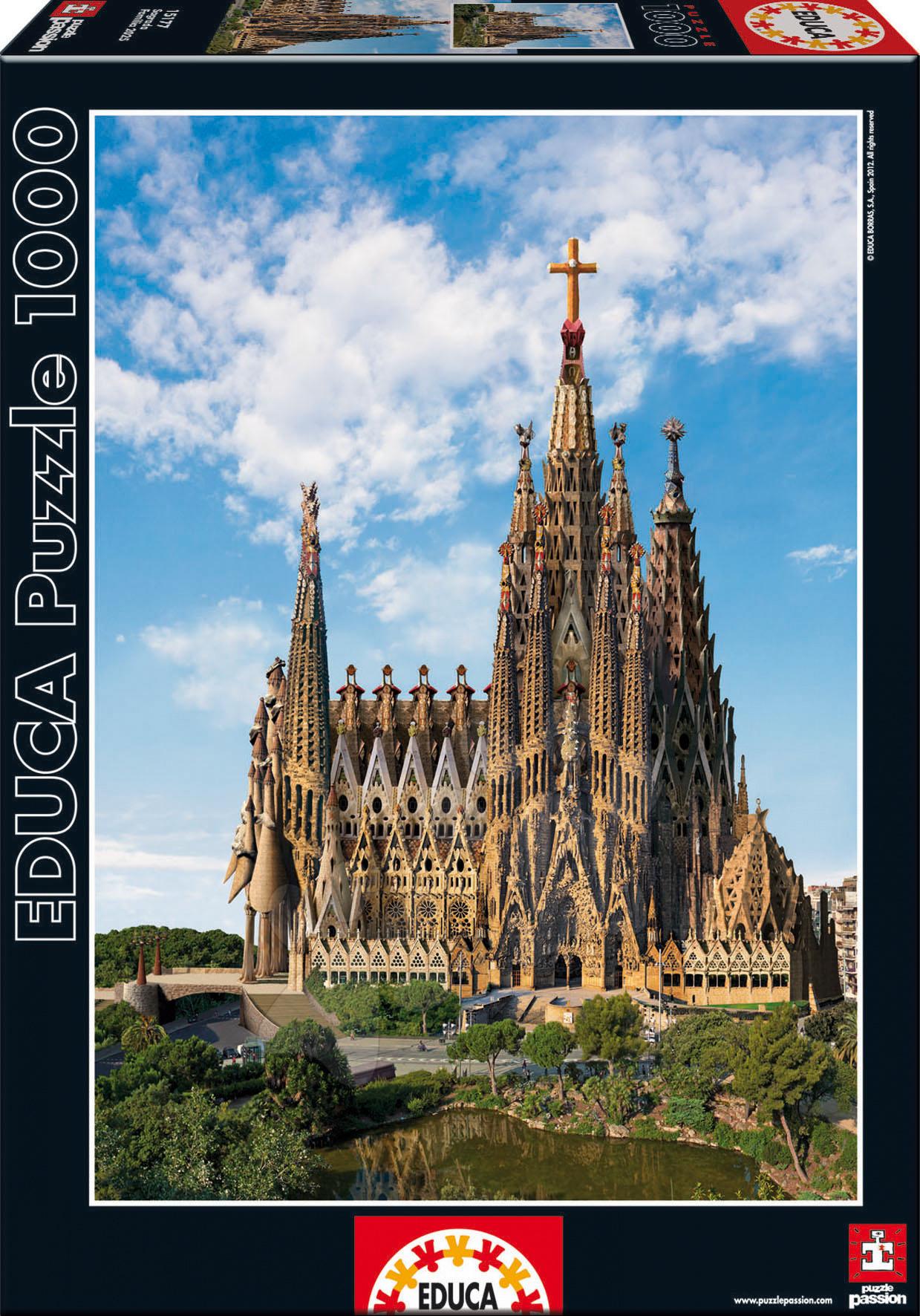 Puzzle Sagrada Familia Educa 1000 dílků od 12 let