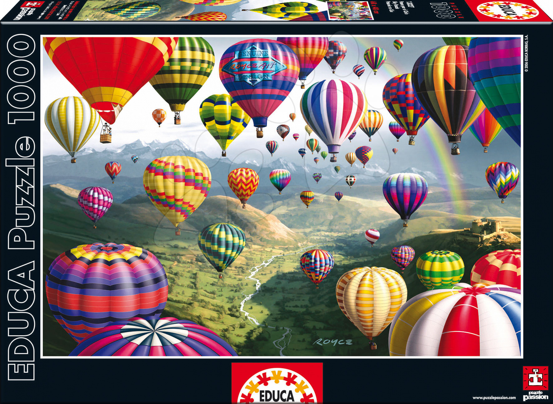 Puzzle Sky RoadsEduca 1000 dílků