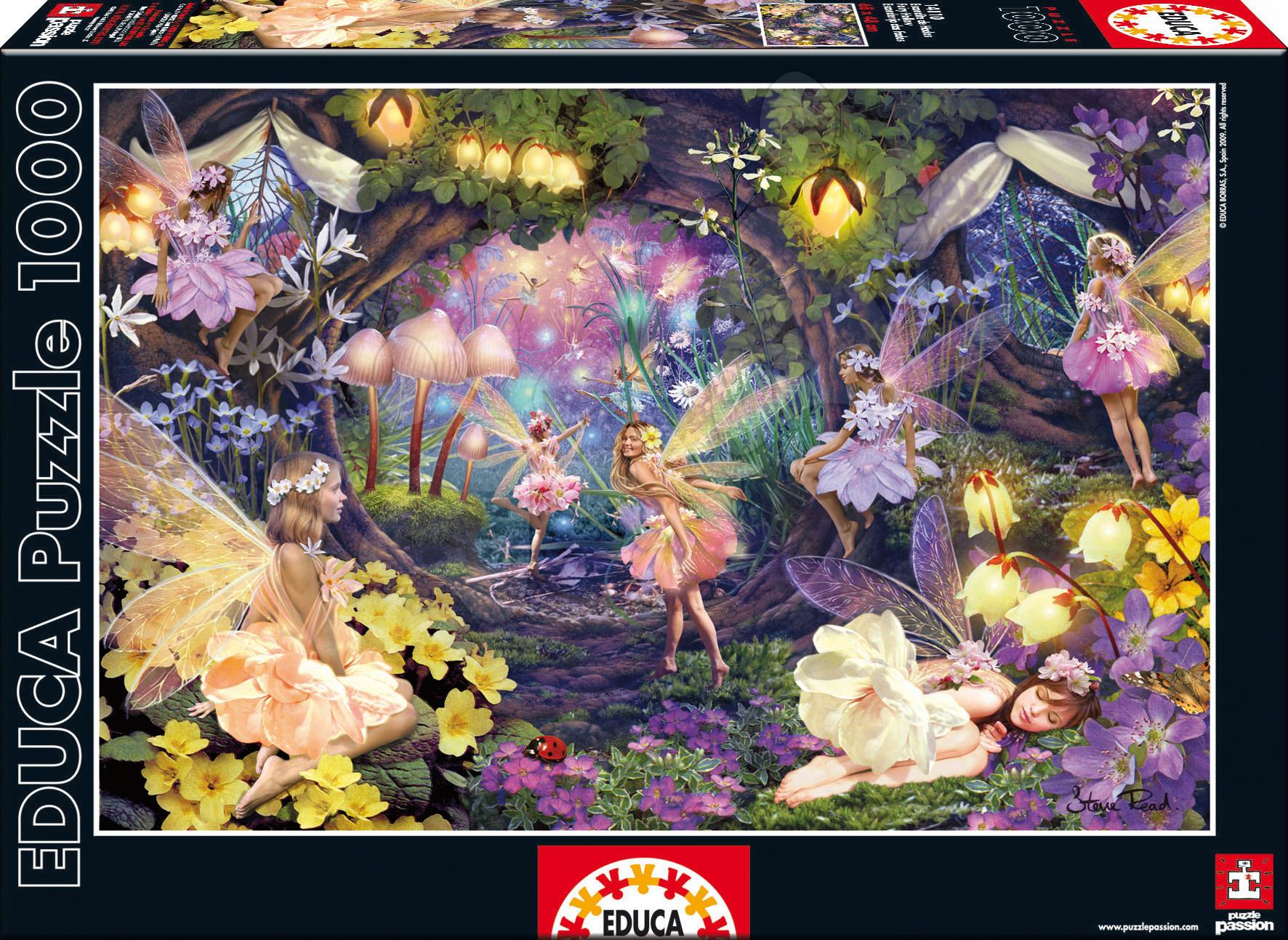 Educa 14110 PUZZLE 1000 delov Fairy hollow 68 x 48 cm+ FIX PUZZLE LEPILO od 12 leta