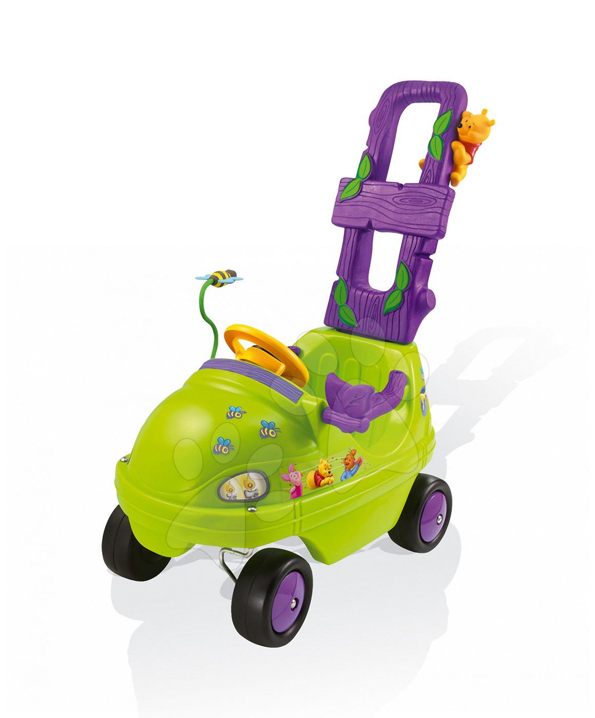 Odrážadlo Macko Pú Smoby Buggymobile s rúčkou od 10 mes