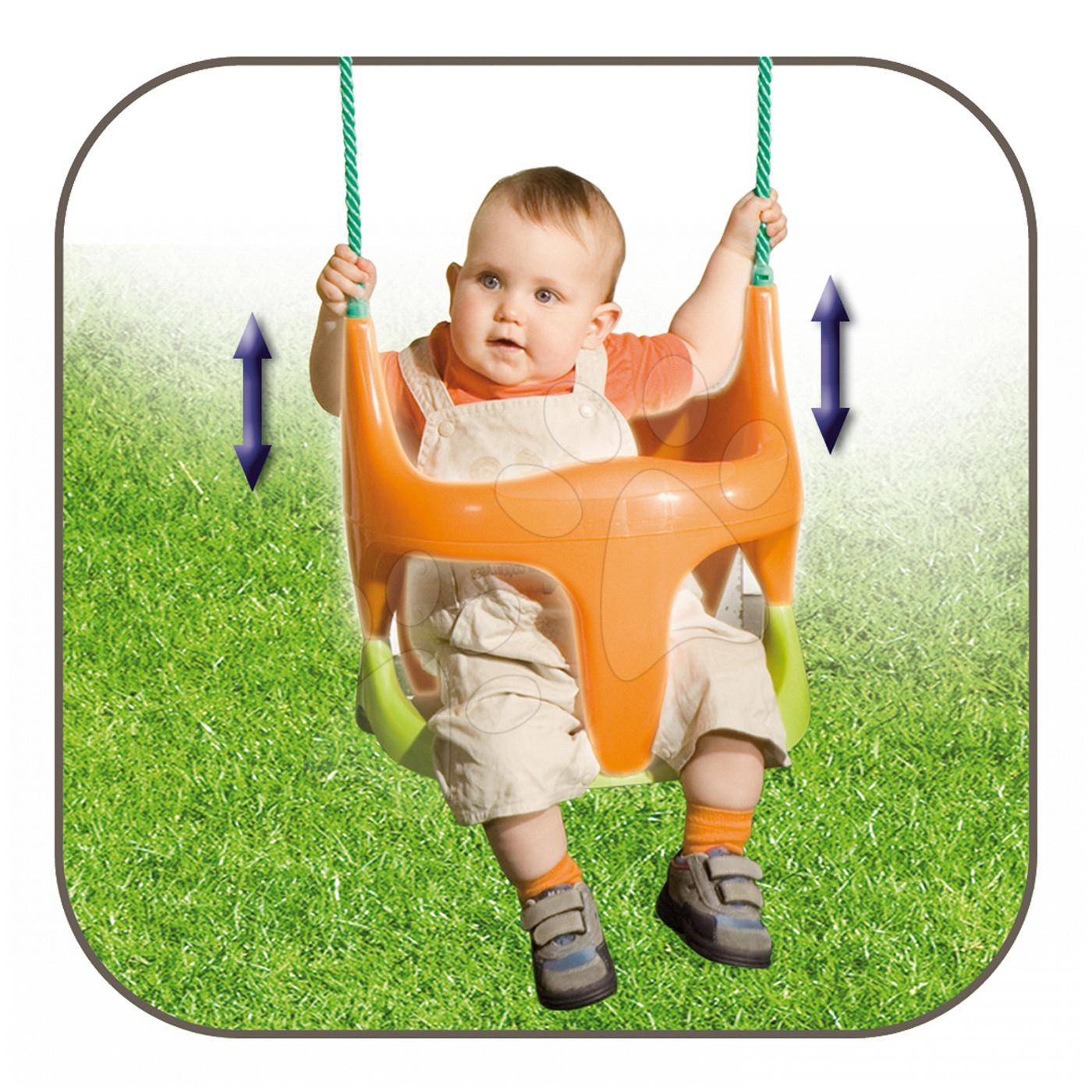 Dětské houpačky - Houpačka Bebe 2v1 Smoby s ohrádkou od 18 měsíců