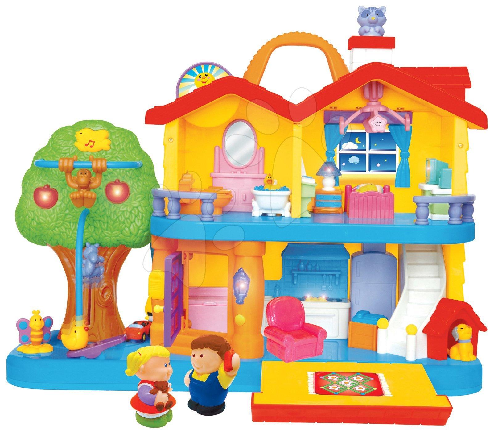Hračky zvukové - Hrací dům Activity Sweet home Kiddieland s hlasy a melodiemi od 12 měsíců